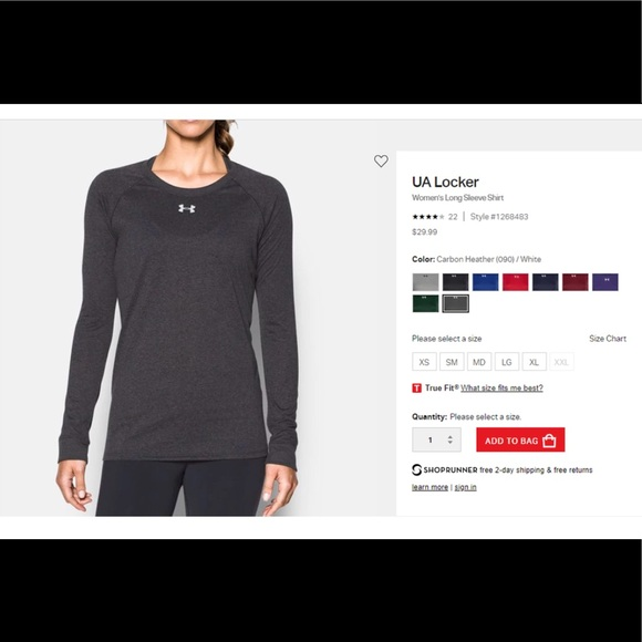371011011 Under Armour Tops | Ua Locker Womens Long Sleeve T | Poshmark